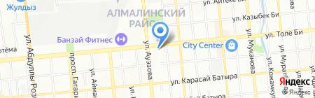 Бочкарев на карте Алматы