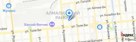 Массажный кабинет Юрия Ли на карте Алматы