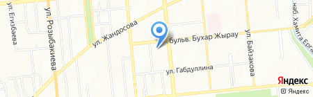 Ак Босага на карте Алматы