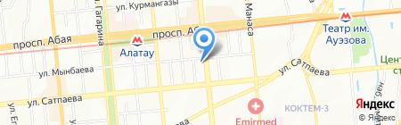 НЕВА на карте Алматы