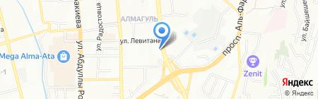 Алмагуль на карте Алматы