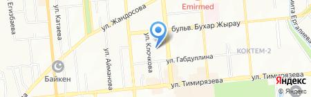 Бона на карте Алматы