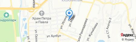 Ясли-сад №83 на карте Алматы