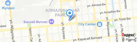Букетики на карте Алматы