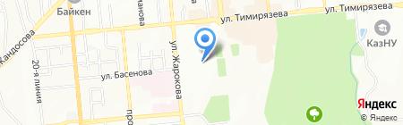 КазАла-Тек на карте Алматы
