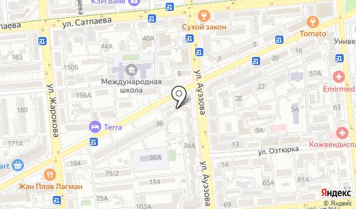 Платежный терминал Kaspi bank. Схема проезда в Алматы