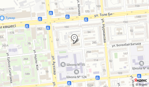 Банкомат Нурбанк. Схема проезда в Алматы