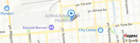 Тегиз Жол на карте Алматы