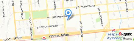 Нотариус Акбанова Д.С. на карте Алматы