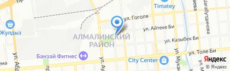 Алем-ТАТ на карте Алматы