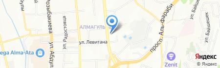 Страг на карте Алматы