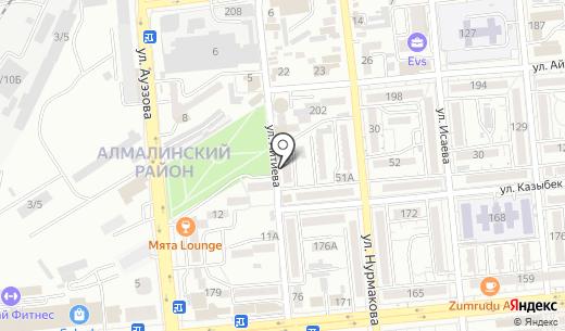 Рада. Схема проезда в Алматы