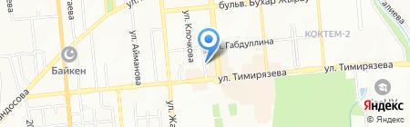 Нотариус Сарсембаев Т.А. на карте Алматы