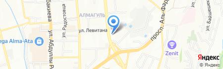 ДЕИВ на карте Алматы