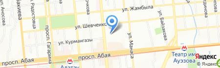 Компьютерный клуб на ул. Ауэзова на карте Алматы