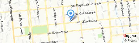 Ирис на карте Алматы