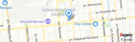 Кристалл Аллалит Ломбард на карте Алматы