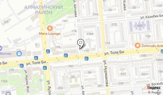 Гульвайра. Схема проезда в Алматы