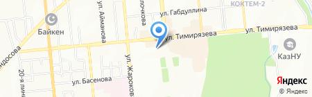 Атакент Экспо на карте Алматы