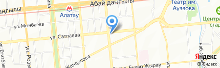 Панда на карте Алматы