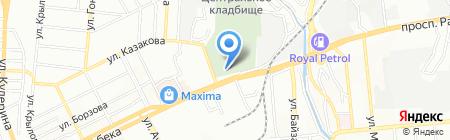 Центральное кладбище на карте Алматы