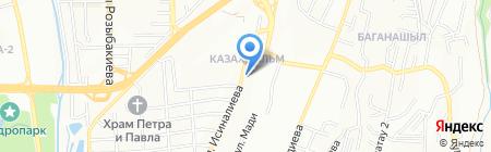 Аза на карте Алматы