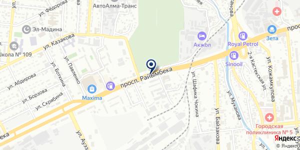 Итальянская на карте Алматы