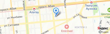Научно-практический центр санитарно-эпидемиологической экспертизы и мониторинга на карте Алматы