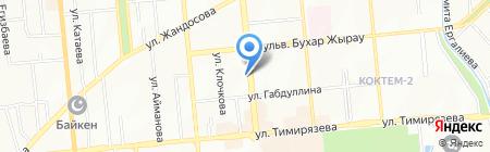 Пингвин на карте Алматы