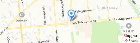 Азбука связи на карте Алматы