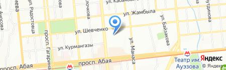 Лига потребителей Казахстана на карте Алматы
