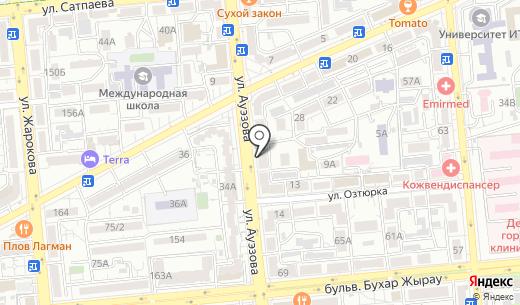 Атакент. Схема проезда в Алматы