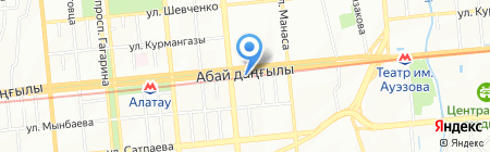 Нотариус Малгаждарова Б.Д. на карте Алматы