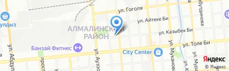 Коктем продовольственный магазин на карте Алматы