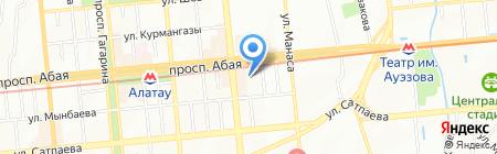 Берк на карте Алматы