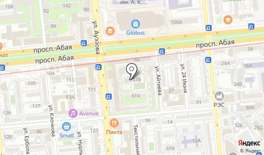 FMC. Схема проезда в Алматы