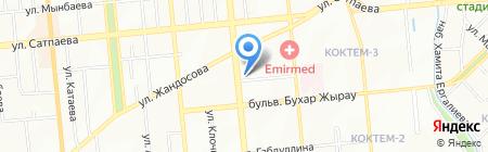 Нотариус Хамзина Г.К. на карте Алматы
