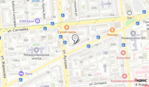 А-Маркет. Схема проезда в Алматы