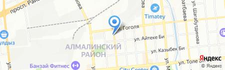 На Нурмакова на карте Алматы