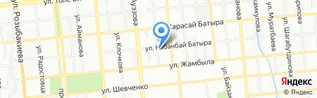Тениз на карте Алматы