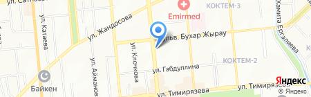 Нотариус Махпирова Л.Б. на карте Алматы