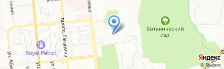 Атакент на карте Алматы