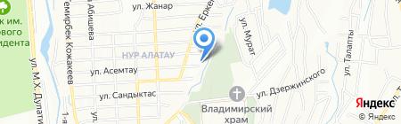 Баганашыл на карте Алатау