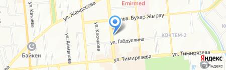 Мир Ткани на карте Алматы