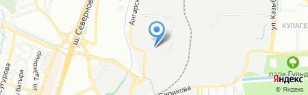 Держава на карте Алматы