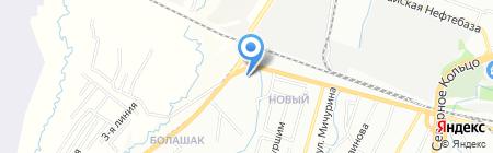 Береке Хладокомбинат №2 на карте Алматы