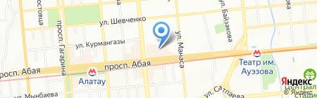 Агни на карте Алматы