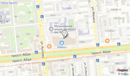 Банкомат АТФ Банк. Схема проезда в Алматы