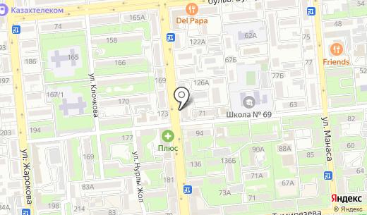 LED. Схема проезда в Алматы