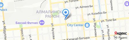 Водолей на карте Алматы